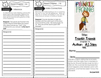 Comprehension Tri-Fold - Frankly, Frannie, by AJ Stern