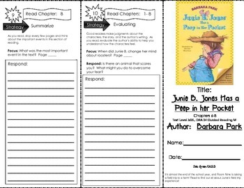 Comprehension Tri-Fold - Junie B. Jones Has a Peep in Her Pocket