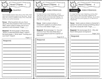 Comprehension Tri-Fold - Junie B. Jones Is Captain Field D