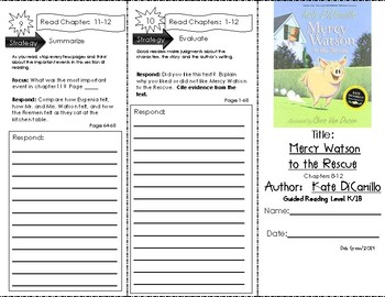 Comprehension Trifold - Mercy Watson to the Rescue, by Kate DiCamillo