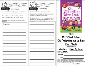 "Comprehension Tri-Fold - My Weird School, ""Oh, Valentine We've Lost Our Minds!"""