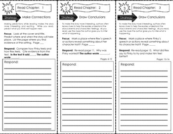 Comprehension Tri-Fold - Pinky and Rex and the Spelling Bee, by James Howe