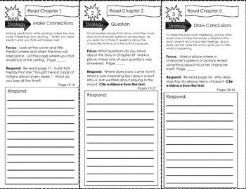 Comprehension Tri-Fold - Ready Freddy! 2nd Grade, Snow Day Dare, by Abby Klein