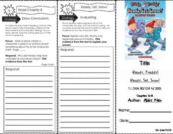 Comprehension Tri-Fold - Ready Freddy! Ready, Set, Snow! # 16, by Abby Klein