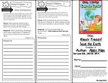 Comprehension Tri-Fold - Ready Freddy!  Save the Earth! # 25, by Abby Klein