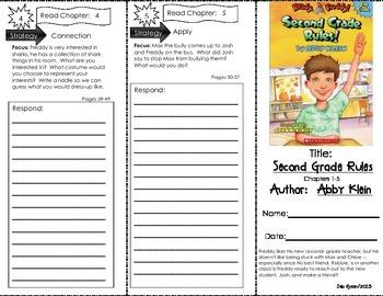 Comprehension Tri-Fold - Ready Freddy! Second Grade Rules, by Abby Klein