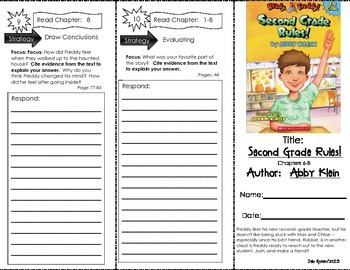 Comprehension Tri-Fold - Ready Freddy! Second Grade Rules, by Abby Klein