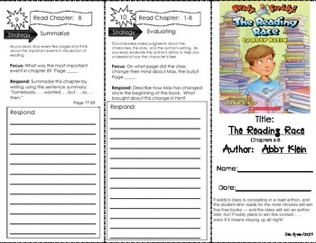 Comprehension Tri-Fold - Ready Freddy The Reading Race, by Abby Klein