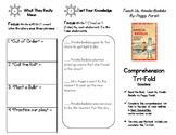 Comprehension Tri-fold: Teach Us, Amelia Bedelia