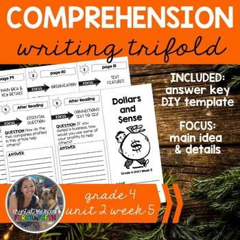 Comprehension Trifold: Dollars and Sense (Time for Kids) - Grade 4 Unit 1 Week 5