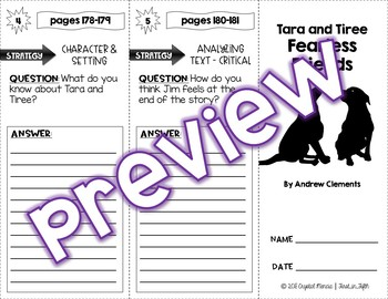 Comprehension Trifold - Tara and Tiree, Fearless Friends