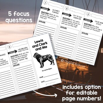 Comprehension Trifold - Lewis and Clark and Me