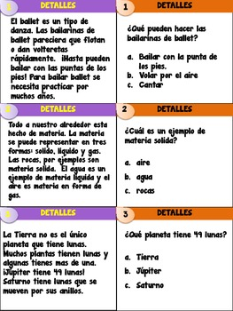 Comprehension Trivia Game
