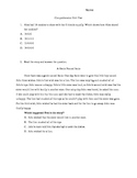 Comprehension Unit pretest/post test