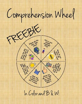 Comprehension Wheel Freebie (Color and B&W)