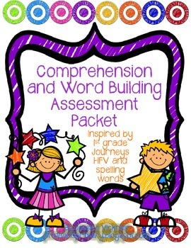 Comprehension & Word Building Assessment Pack