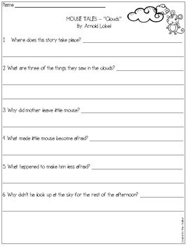 Comprehension Work on Mouse Tales (A Book Companion)