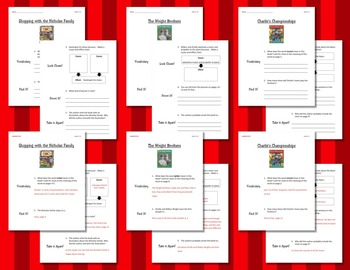 Comprehension Worksheets for Benchmark Literacy - Grade 2, Unit 2