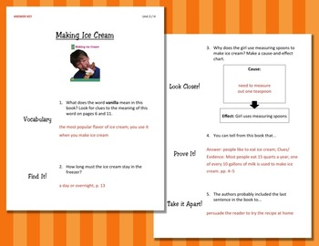 Comprehension Worksheets for Benchmark Literacy - Grade 2, Unit 3