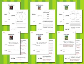 Comprehension Worksheets for Benchmark Literacy - Grade 2, Unit 5