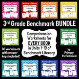 Comprehension Worksheets for Benchmark Literacy - Grade 3 BUNDLE, Units 1-10
