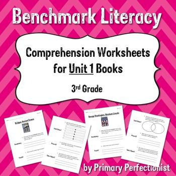 Comprehension Worksheets for Benchmark Literacy - Grade 3, Unit 1