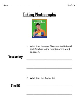 Comprehension Worksheets for Benchmark Literacy - Grade 3, Unit 3