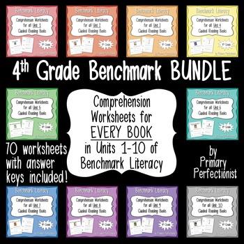 Comprehension Worksheets for Benchmark Literacy - Grade 4