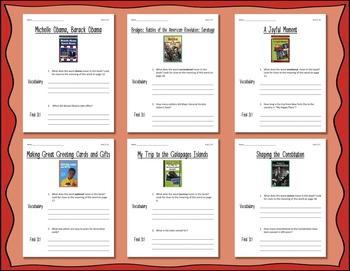 Comprehension Worksheets for Benchmark Literacy - Grade 4, Unit 2