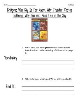Comprehension Worksheets for Benchmark Literacy - Grade 4, Unit 6