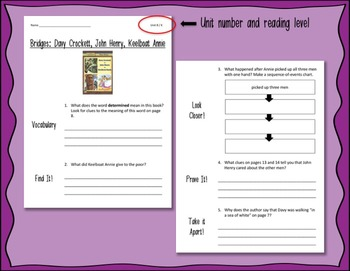 Comprehension Worksheets for Benchmark Literacy - Grade 4, Unit 8