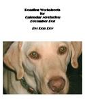 Comprehension Worksheets for Calendar Mysteries: December Dog