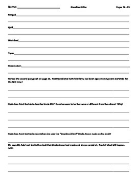 Comprehension Worksheets for Kneeknock Rise by: Natalie Babbitt