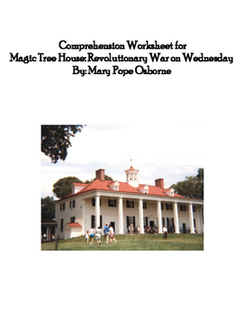 Comprehension Worksheets for Magic Tree House: Revolutionary War on Wednesday