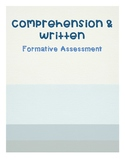Comprehension & Written Assessment