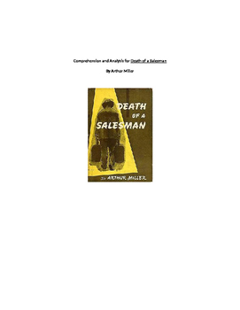 Comprehension and Analysis for Death of a Salesman