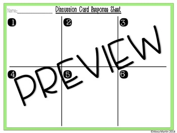 Comprehension and Book Club Discussion Cards