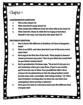 Comprehension and Discussion Questions for Save Me a Seat