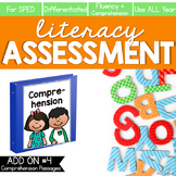 Comprehension and Fluency Literacy Assessment ADD ON #4 |