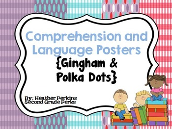 Comprehension and Language Posters {Gingham and Polka Dots}