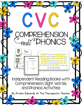 Comprehension and Phonics CVC- Book Edition