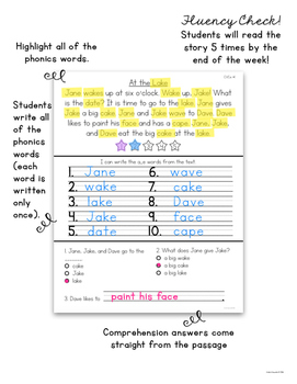 Comprehension and Phonics CVCe- Workbook Edition