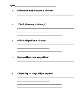 Comprehension and Restate Question Practice