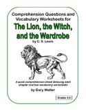 Comprehension and Vocabulary Sheets for The Lion, the Witc