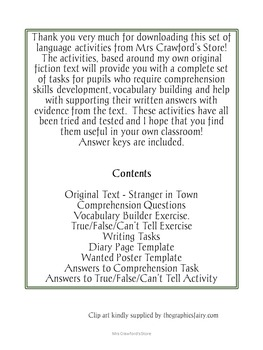 Comprehension and Writing Pack