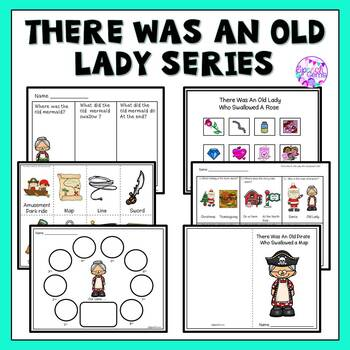 There Was an Old Lady Who Swallowed a Leaf, Bat, Turkey, Bell, Rose and Clover