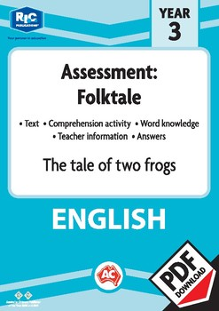 Comprehension assessment text - The tale of two frogs - Year 3