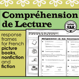 Compréhension de Lecture: FRENCH Reading Response Graphic Organizers