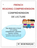 Compréhension de lecture / French reading comprehension