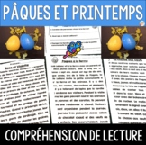 Compréhension de lecture - PÂQUES ET PRINTEMPS - French Reading Comprehension